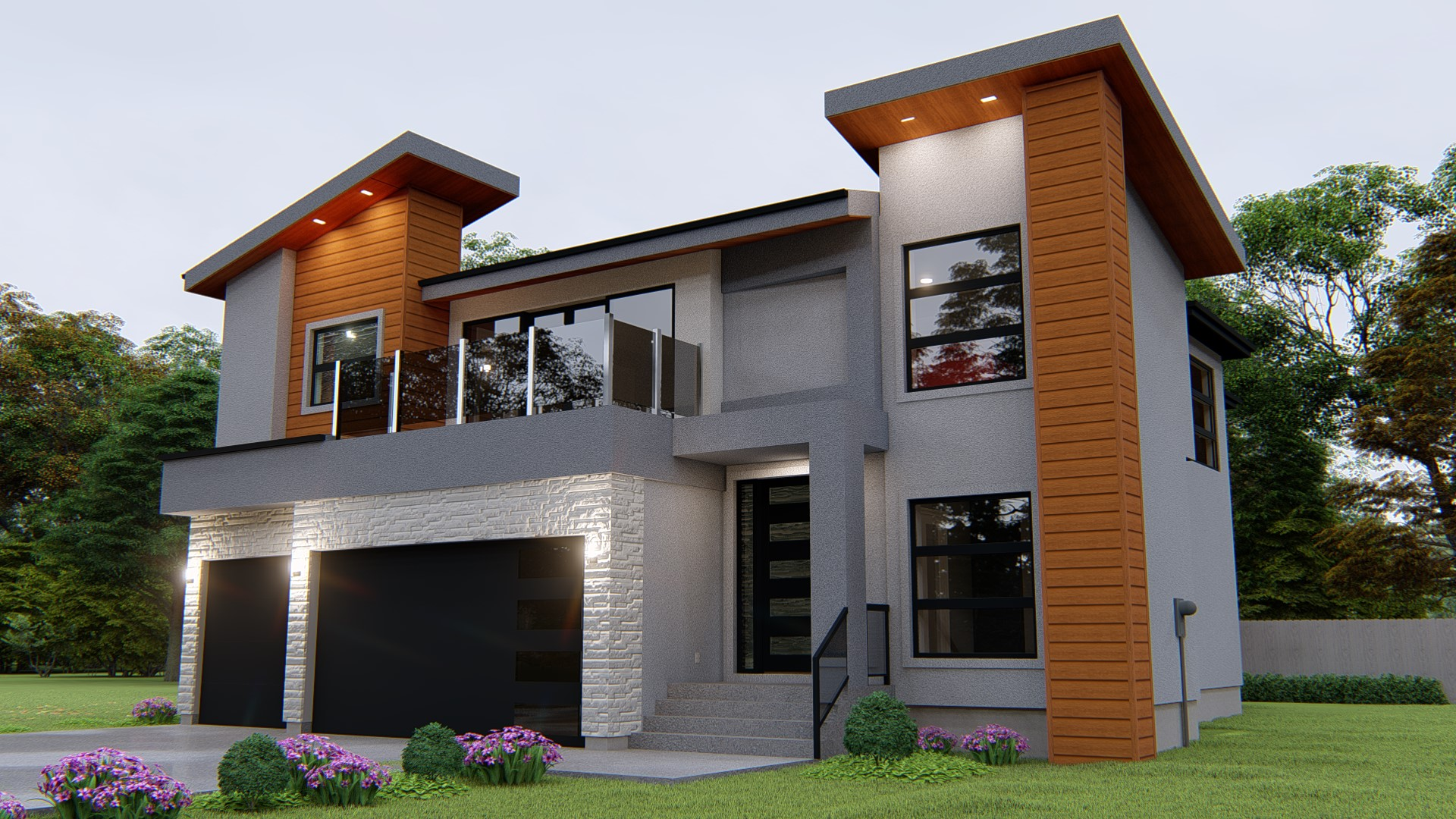attached calgary infill home